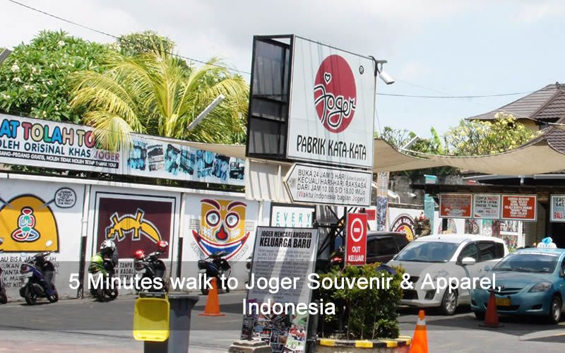 5 Minutes walk to Joger Souvenir & Apparel, Indonesia
